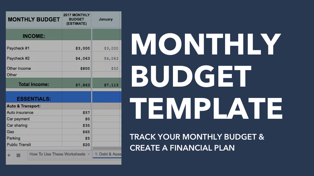 Monthly Budget & Financial Plan